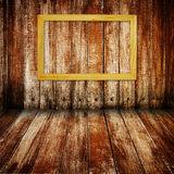 Frame on wood Royalty Free Stock Photography