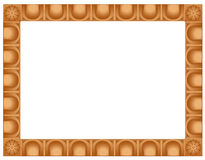 Frame in wood. Frame of wood with carvings on white background Royalty Free Stock Photo