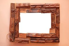 Frame from wood pieces Stock Photography