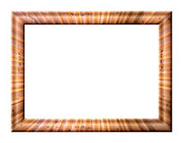 Frame with wood texture Stock Photos