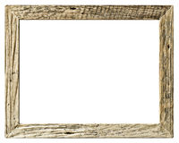 Frame wood vintage simple style. Isolated on white background royalty free stock photos
