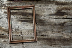 Frame on wooden background Royalty Free Stock Image