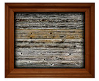 Frame on wooden background Royalty Free Stock Images