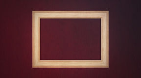 Frame on wooden background Stock Images