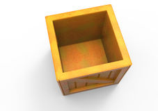 Frame Wooden Box 3D. Isolate royalty free illustration