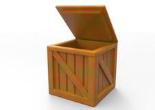 Frame Wooden Box 3D. Isolate stock illustration