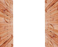 Frame of a wooden fence on the sides with space for text Stock Photo