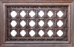 Frame of wooden flower pattern Stock Photography
