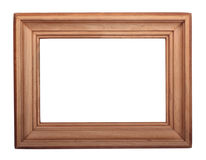 Frame 12. Wooden frame for photos on a white background Stock Photo