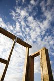 Frame wooden structure. Stock Image