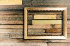 Frame on wooden wall Royalty Free Stock Photos
