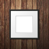 Frame on Wooden Wall Stock Photo