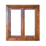 Frame of a wooden window exterior side Royalty Free Stock Photos