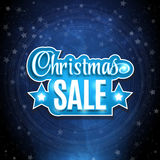 Frame with the words Christmas Sale. Background on , discounts, promotions in the winter. Vector illustration. Stock Photography