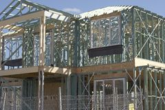 Frame Work For New House. Frame work being built for a new house in Sydney Australia Stock Photography