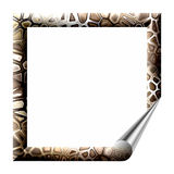Frame with wrapped corner Royalty Free Stock Image