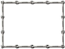 Frame of Wrenches. On White Background Stock Photography