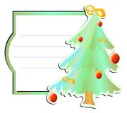 Frame with xmas-tree Stock Photos