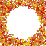 Frame from yellow autumn leaves.Design element for poster, flyer Stock Photos