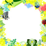 The frame of yellow flower objects Stock Photography
