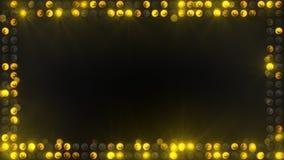 Frame of yellow lighting bulbs Stock Image