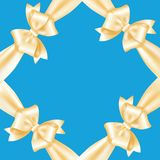 Frame of yellow ribbons and bows Stock Images