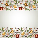 Frame for your design with birds and flowers Royalty Free Stock Photography