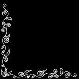 Frame for your design - black and white pinstripes Royalty Free Stock Photography