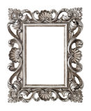 Frame your picture, photo, image. Vintage silver baroque object. Frame your picture, photo, image. Vintage silver baroque style object isolated on white Stock Photo