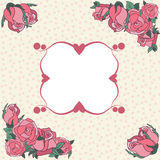 Frame for your text decorated with rose. Royalty Free Stock Photography