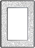 Frame zentangle, vector image. Floral hand drawn Stock Photo