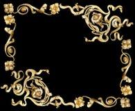 frame2 złoto Zdjęcia Stock