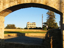 Framed. A scnery framed with an arch. Nicosia. Cyprus Stock Photography