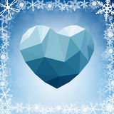 Framed abstract geometric heart-shaped banner Stock Photo