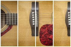 Framed Acoustic guitar Royalty Free Stock Photos