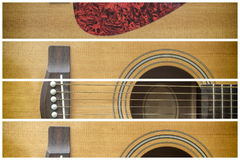 Framed Acoustic guitar Royalty Free Stock Photo