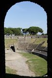 Framed Arena Pompeii Stock Photo