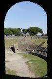 Framed Arena Pompeii stock photo
