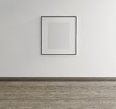 Framed Art On Wall Of An Art Gallery Stock Photo