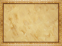 Framed background. Painted canvas texture with decorative frame Stock Photos