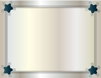 Framed background with ribbon edge three-wire style. royalty free illustration