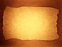Framed background (sepia). Old sheet background with ripped frame. Sepia toned Royalty Free Stock Photography