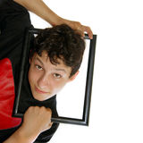 Framed boy Stock Image
