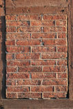 Framed brick wall. Fragment of framed old brick wall Royalty Free Stock Photo