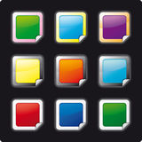 Framed Buttons Royalty Free Stock Photography