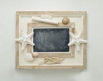 Marine decorated chalkboard. Stock Images