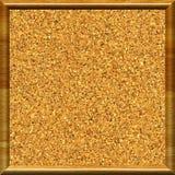 Framed cork. Cork texture in wooden frame Stock Photo