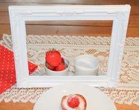 Framed dessert Royalty Free Stock Photos
