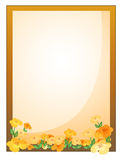 A framed empty signage with flowers Royalty Free Stock Images