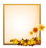 A framed empty signage with flowers Royalty Free Stock Photos